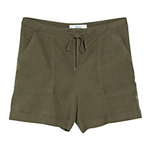Buy Mango Soft Fabric Shorts, Khaki Online at johnlewis.com
