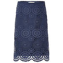 Buy White Stuff Alissa Lace Skirt, Scandinavian Blue Online at johnlewis.com