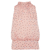 Buy Karen Millen Dot Print Draped Top, Pale Pink Online at johnlewis.com