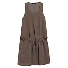 Buy Mango Flowy Striped Dress, Black Online at johnlewis.com