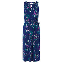 Buy Oasis Iris Print Notch Midi Dress, Multi Blue Online at johnlewis.com