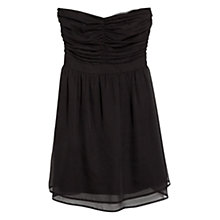 Buy Mango Strapless Dress, Black Online at johnlewis.com
