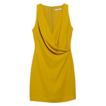 Buy Mango Draped Short Dress, Canary Yellow Online at johnlewis.com