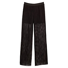 Buy Mango Openwork Pattern Trousers, Black Online at johnlewis.com