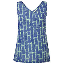 Buy White Stuff Pineapple Vest Top, Blue / Green Online at johnlewis.com