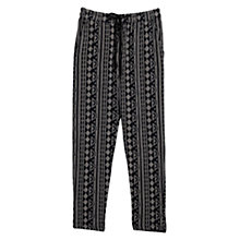Buy Mango Ethnic Print Baggy Trousers, Medium Blue Online at johnlewis.com