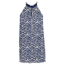 Buy Mango Textured Printed Dress, Medium Blue Online at johnlewis.com