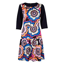 Buy Closet Retro 3/4 Length Sleeve Godet Dress, Multi Online at johnlewis.com