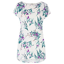 Buy Oasis Iris Print T-Shirt, Multi Online at johnlewis.com