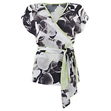 Buy Mint Velvet Orchid Print Wrap Top, Multi Online at johnlewis.com