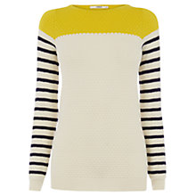 Buy Oasis Colour Block Textured Stripe Top, Multi Online at johnlewis.com
