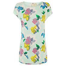 Buy Oasis Bold Bloom Print Tee, Multi Online at johnlewis.com