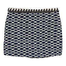 Buy Mango Jacquard Cotton Skirt, Navy Online at johnlewis.com