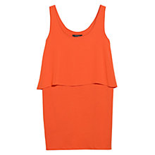 Buy Mango Chiffon Ruffle Dress, Shanghai Orange Online at johnlewis.com