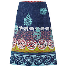 Buy White Stuff Floral Reversible Skirt, Dark Pacific Blue Online at johnlewis.com