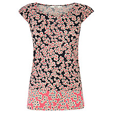 Buy Oasis Patched Daisy Print Top, Multi Online at johnlewis.com