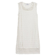 Buy Mango Crochet Cotton Dress, Natural White Online at johnlewis.com