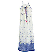 Buy Mango Printed Beaded Dress, Medium Blue Online at johnlewis.com