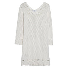 Buy Mango Crochet Cotton Dress, Cloud White Online at johnlewis.com