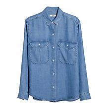 Buy Mango Soft Denim Shirt, Open Blue Online at johnlewis.com