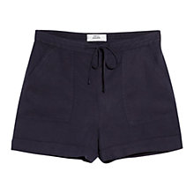 Buy Mango Soft Shorts, Navy Online at johnlewis.com