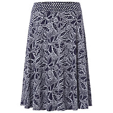 Buy White Stuff Butterfly Jersey Skirt, Navy Online at johnlewis.com