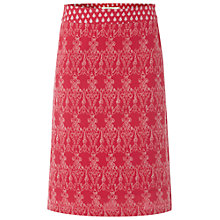 Buy White Stuff Paradise Embroidered Skirt, Red Online at johnlewis.com