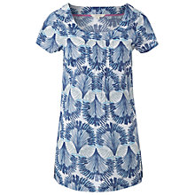 Buy White Stuff Persian Fan Cotton Tunic Top, Endless Blue/White Online at johnlewis.com