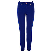 Buy Oasis Coloured Cherry Crop Jeans, Royal Blue Online at johnlewis.com