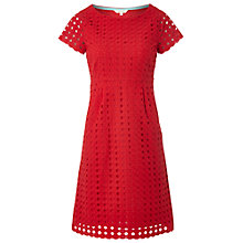 Buy White Stuff Paradise Broderie Dress, Crimson Online at johnlewis.com