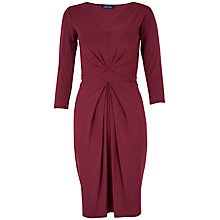 Buy Closet Jersey Tie Back Dress, Wine Online at johnlewis.com