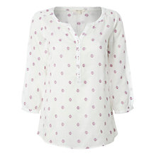 Buy White Stuff Spot Embroidered Top, White Online at johnlewis.com