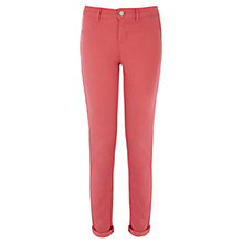 Buy Oasis Coloured Jade Crop Jeans, Starfish Orange Online at johnlewis.com