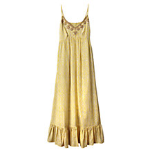 Buy East Embellished Silk Dress, Lemon Online at johnlewis.com