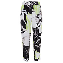Buy Mint Velvet Orchid Print Soft Trousers, Multi Online at johnlewis.com
