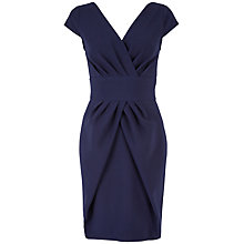 Buy Almari V Neck Pleat Dress, Navy Online at johnlewis.com