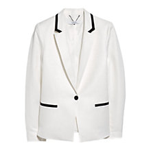 Buy Mango Linen Blend Blazer, Natural White Online at johnlewis.com