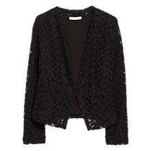 Buy Mango Short Guipure Blazer, Black Online at johnlewis.com