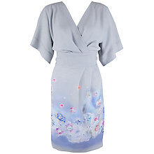 Buy Almari Floral Kimono Dress, Grey/Multi Online at johnlewis.com