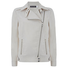 Buy Mint Velvet Biker Jacket, Vanilla Online at johnlewis.com