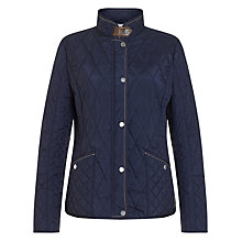 Buy Gerry Weber Diamond Quilt Jacket, Navy Online at johnlewis.com