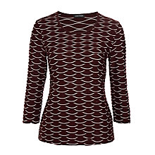 Buy Gerry Weber Textured Jersey Top, Berry Online at johnlewis.com