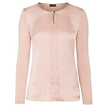 Buy Gerry Weber Satin Trimmed Blouse, Rose Online at johnlewis.com