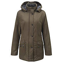 Buy Gerry Weber Faux Fur-lined Hooded Coat, Pewter Online at johnlewis.com