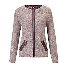 Buy Gerry Weber Knitted Jacket, Bordeaux Online at johnlewis.com