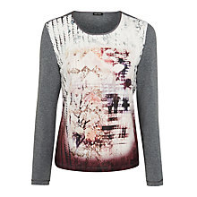 Buy Gerry Weber Abstract Print Jersey Top, Multi Online at johnlewis.com
