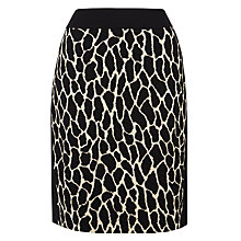 Buy Gerry Weber Animal Knitted Skirt, Beige/Black Online at johnlewis.com