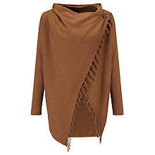 Buy Gerry Weber Fringed Cardigan, Toffee Online at johnlewis.com