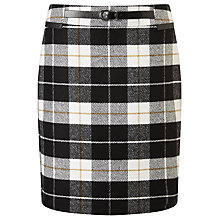 Buy Gerry Weber Check Skirt, Black/Ecru Online at johnlewis.com