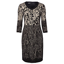 Buy Gerry Weber Jacquard Dress, Beige/Black Online at johnlewis.com